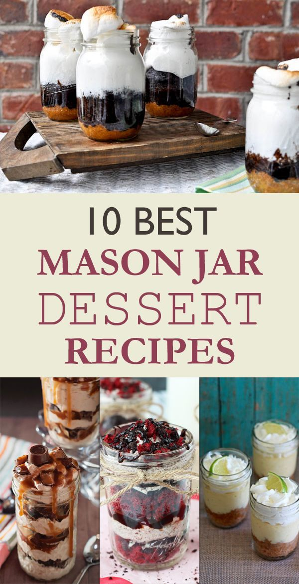 10 Best Mason Jar Dessert Recipes                                                                                                                                                                                 More