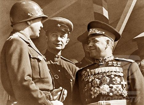 General George S. Patton with Marshall Zhukov