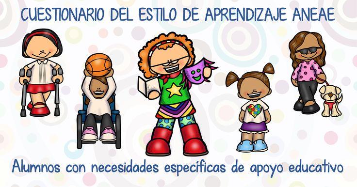 CUESTIONARIO TEST DEL ESTILO DE APRENDIZAJE (ANEAE) Alumnos con necesidades específicas de apoyo educativo EDITABLE
