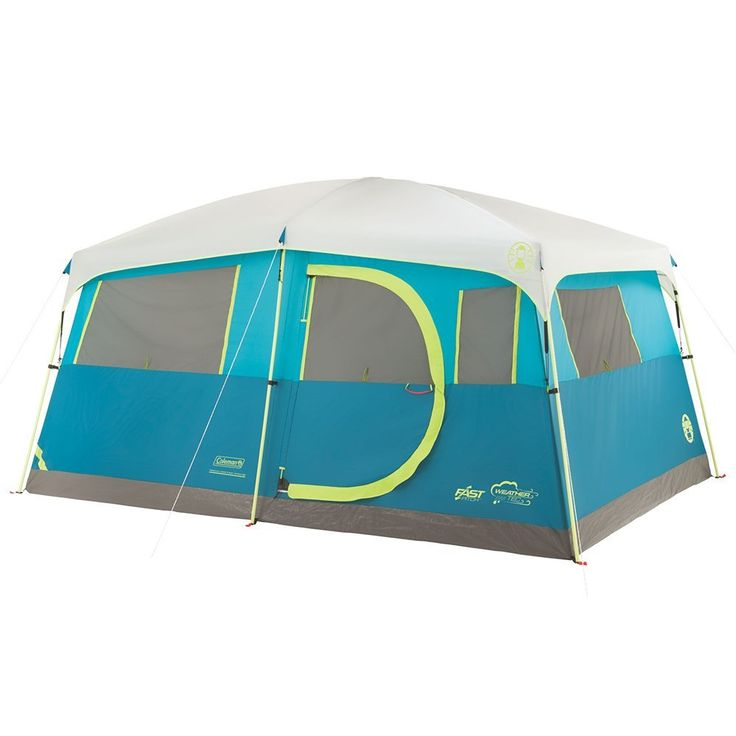 Coleman Tenaya Lake Fast Pitch 8 Person Cabin Tent w/Closet  sc 1 st  Pinterest & 125 best Best Family Tents 2018 images on Pinterest | Tent camping ...