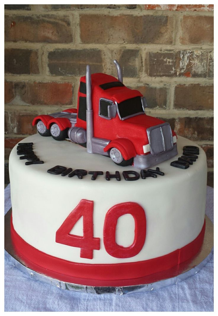 Semi Truck Birthday Cake by Max Amor Cakes.                              …