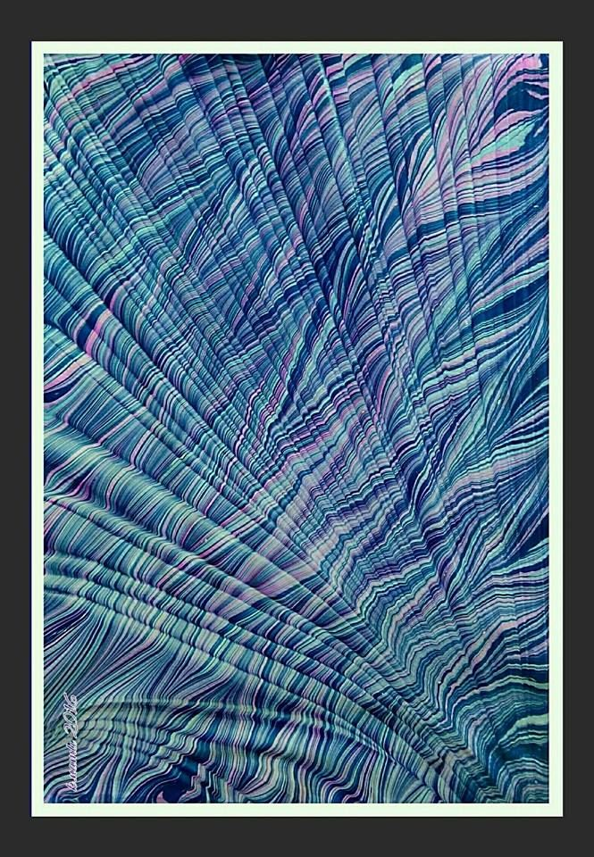 Marbled paper by Kemal Nemli.