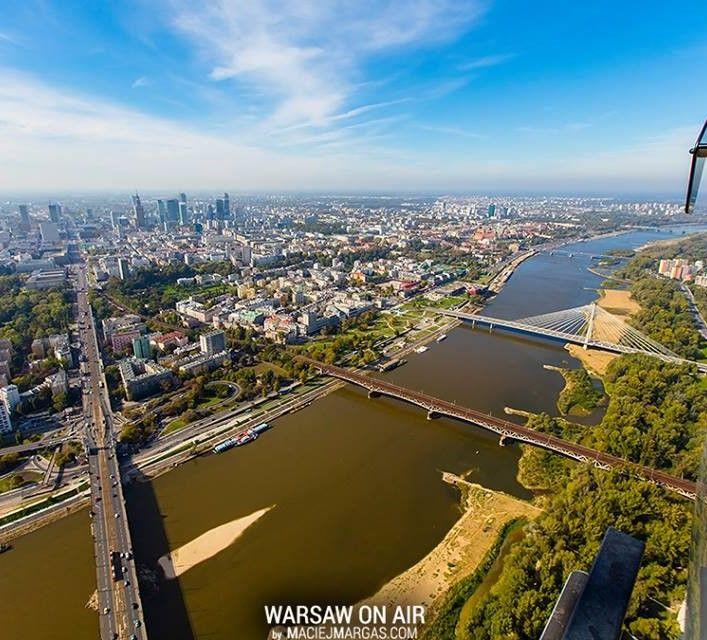 #Warsaw by air and the #Vistula River. Poland
