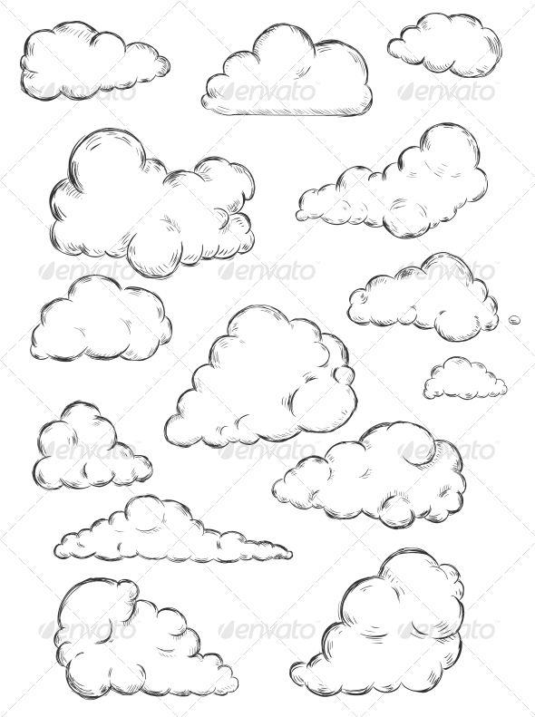 Clouds Sketch Cloud Drawing Sketch Cloud Cartoon Clip Art