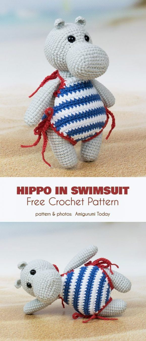 Amigurumi Hippo Free Crochet Patterns