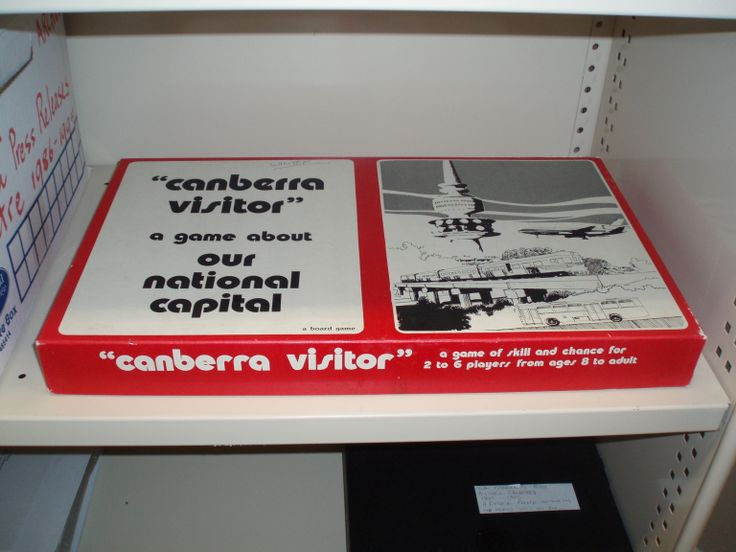 """Canberra Visitor"" board game"