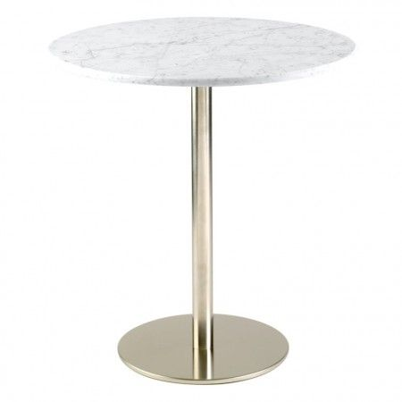 1000 images about brushed stainless steel kitchen bar for Round marble kitchen table