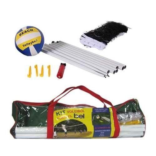 Jogo Volei Kit Com Rede Mastros Suporte Bomba e Bola Voleibol