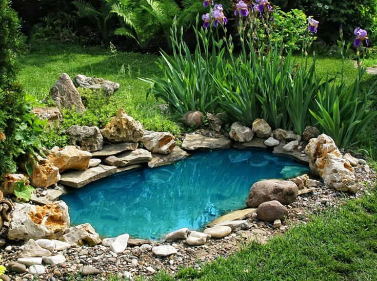 Inspirational Teich Pool Brunnen Wasser im Garten