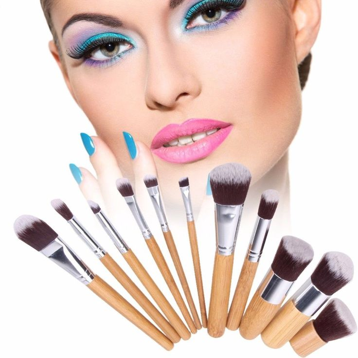 Makeup Brush Set Foundation Eyeshadow Powder Face Contour Blush Applicator New #Unbranded