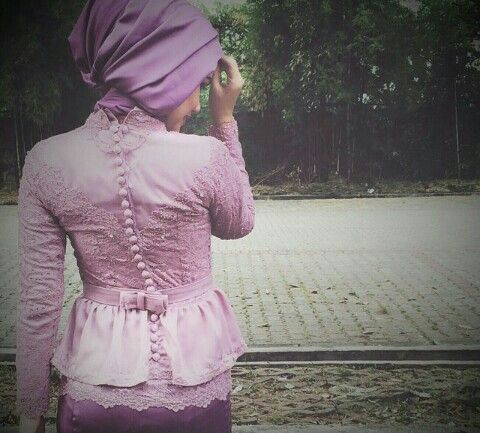 Kebaya muslim with double peplum