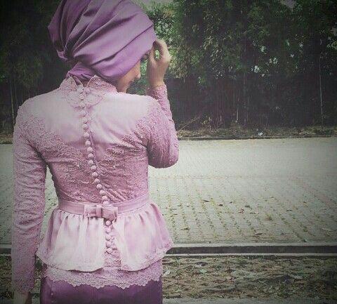 Kebaya muslim with double peplum