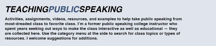 In-class activity for interpersonal communication: nonverbal | teachingpublicspeaking
