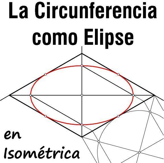 La Circunferencia Como Elipse En Perspectiva Isométrica Trazado Por 2 Métodos Y Diferencias Con El óvalo Perspectiva Circunferencia Clases De Dibujo