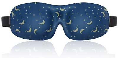 Lonfrote Star Moon Deep Molded Sleep Mask with Ear Plug and Carry Pouch Lightweight & Comfortable Eye Mask