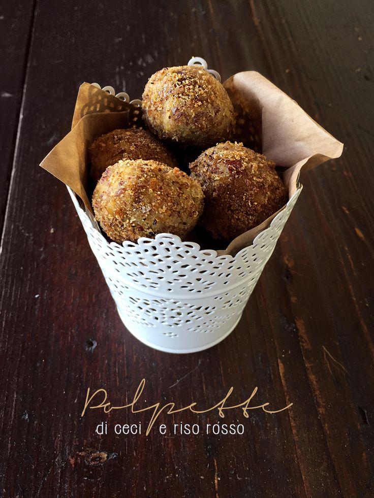 polpette di ceci e riso rosso * Chickpea and rice vegan meatballs