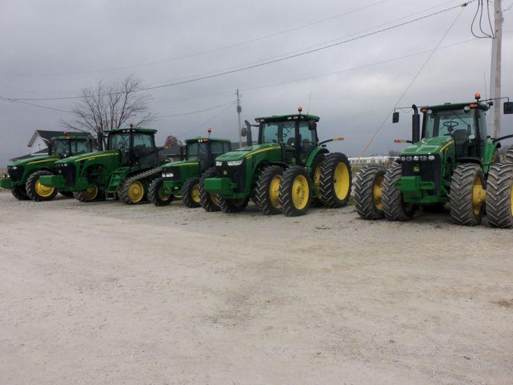 JOhn Deere tractors r-l;8430,8285R,6420,8345RT,7920