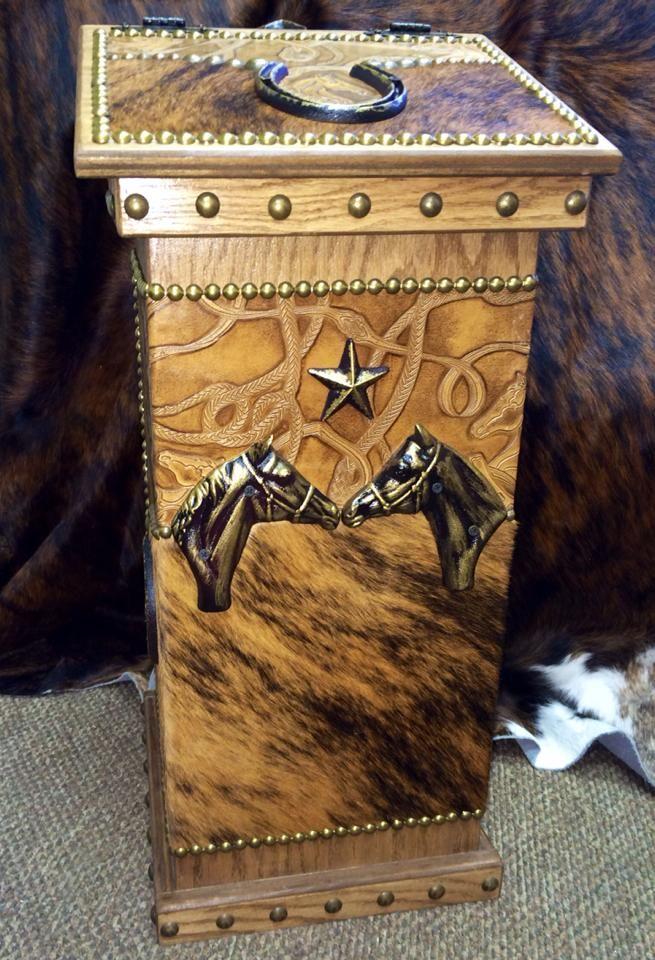 Beautiful Functional Western Horse Bridle Kitchen Wastebasket Or Hamper Western Decor By Signature