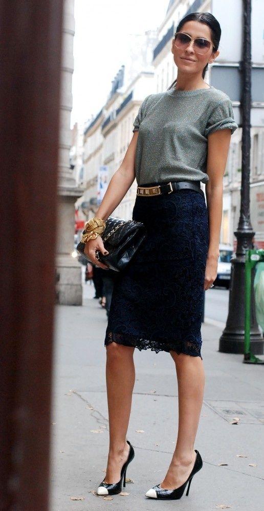 Gorgeous lace pencil skirt ...