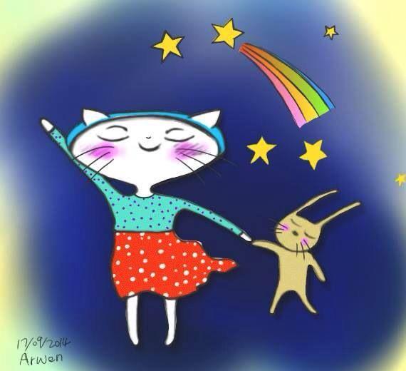 La La Cat series- Under the night sky#cat