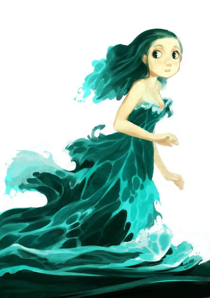 Asi me la imagino a Cordelia, más pequeña, huyendo de algo. Esto es antes de que Elrik la encontrara.