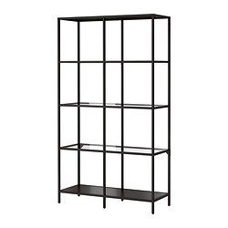 Love the simplistic lines and modern shape of this shelving. This would be a great blend with my antique pieces