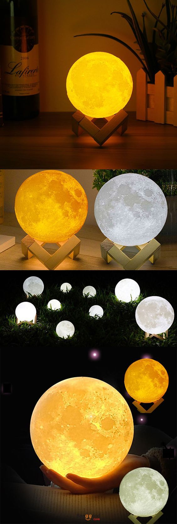 US$12.99 + Free shipping. 12cm Magical Two Tone Moon Lamp ...