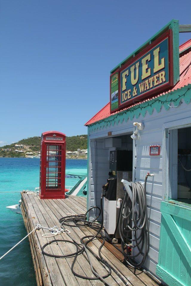Marina Cay overlooking Scrub Island, British Virgin Islands by Peggy Schorle