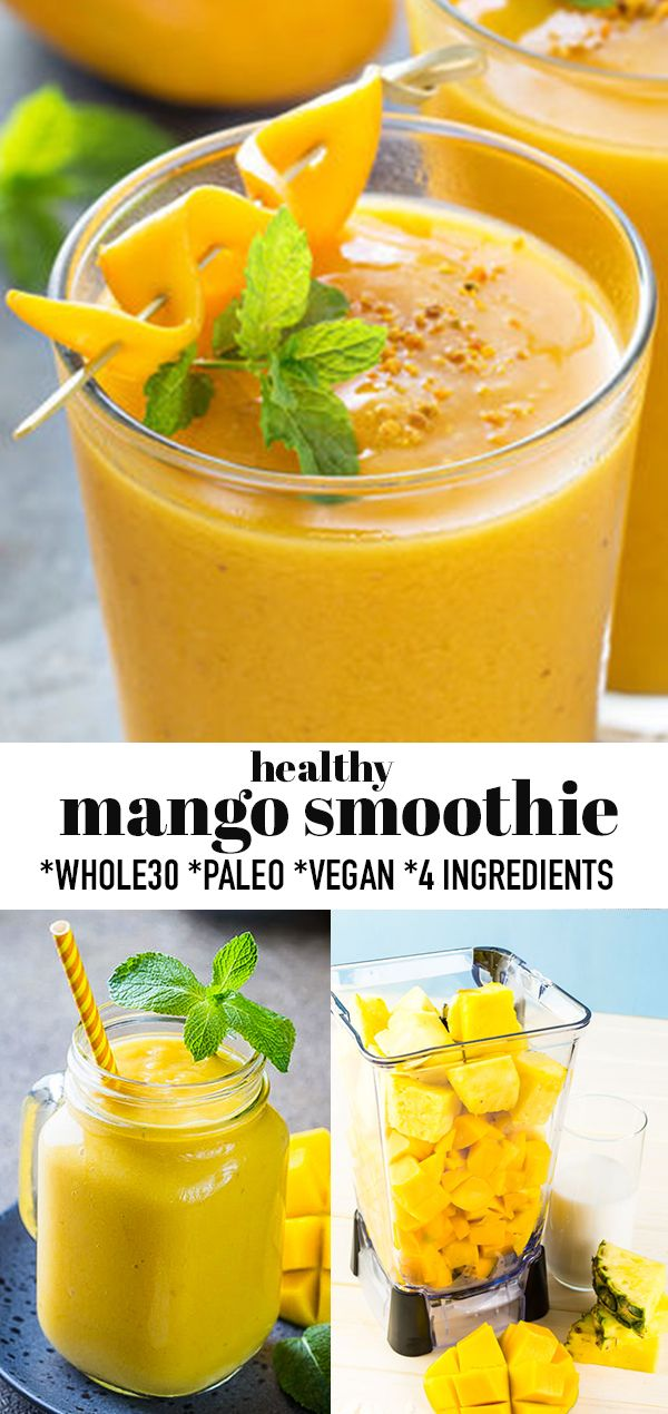Healthy Mango Smoothie Mango Smoothie Healthy Mango Smoothie After Workout Snack