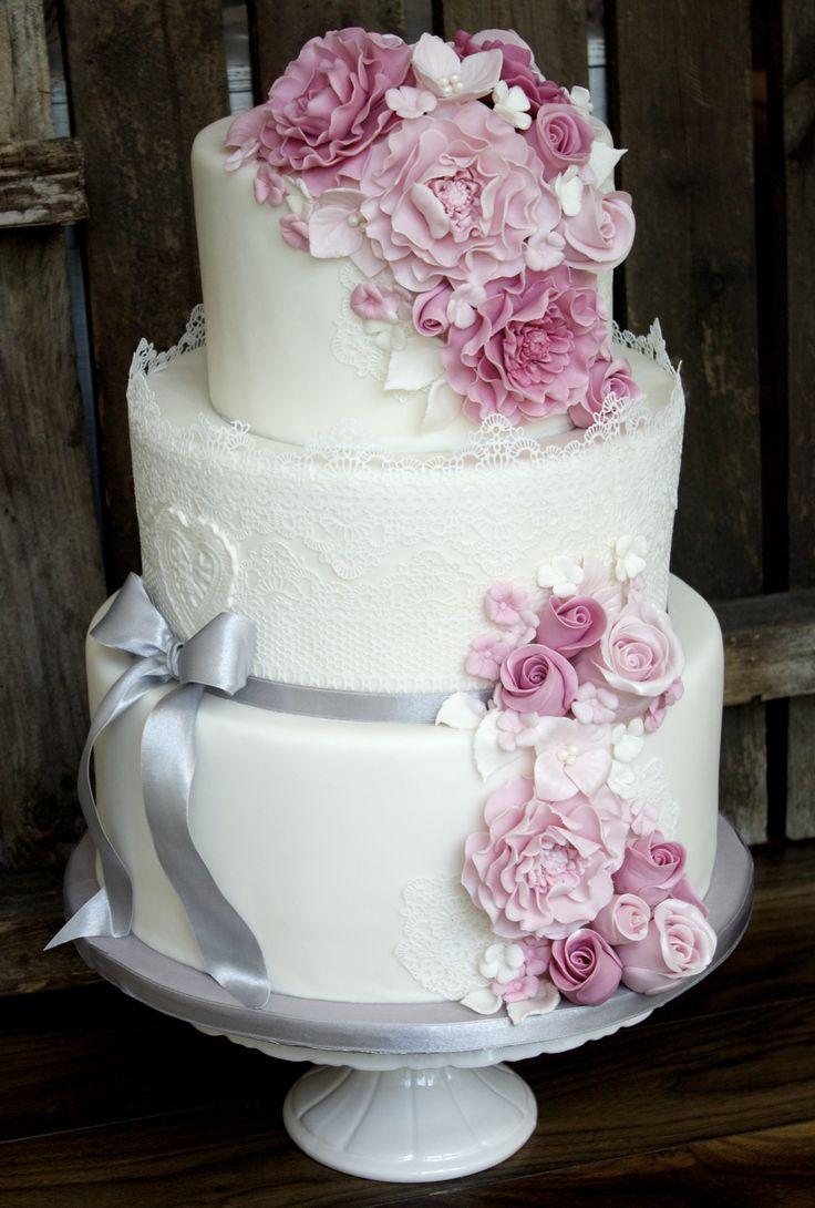 Die besten 17 Ideen zu Pinke Hochzeitstorte auf Pinterest  Frühlings ...