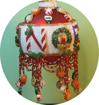 302 best Beaded Ornament Cover Patterns images on Pinterest