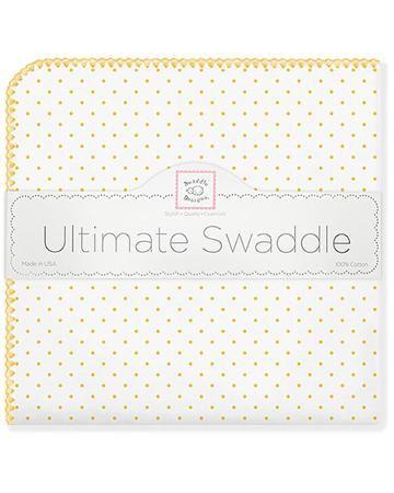 SwaddleDesigns Classic Polka Dots желтая  — 2100р. ------------- Теплая фланелевая пеленка будет выглядеть как новая даже после многократных стирок. Ткань не теряет своей мягкости и не выцветает.