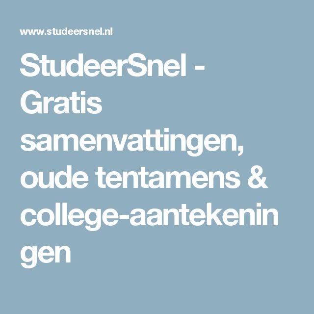 StudeerSnel - Gratis samenvattingen, oude tentamens & college-aantekeningen - nu studocu