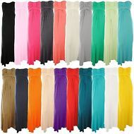 Womens Knot Bust Jersey Plain Coloured Block Boobtube Bandeau Ladies Maxi Dress