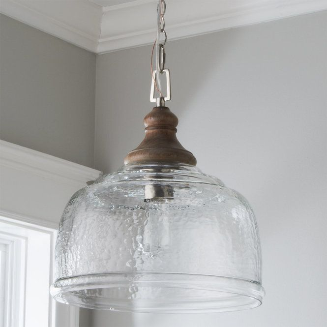 Organic Rippled Glass Pendant With Images Glass Pendant Light