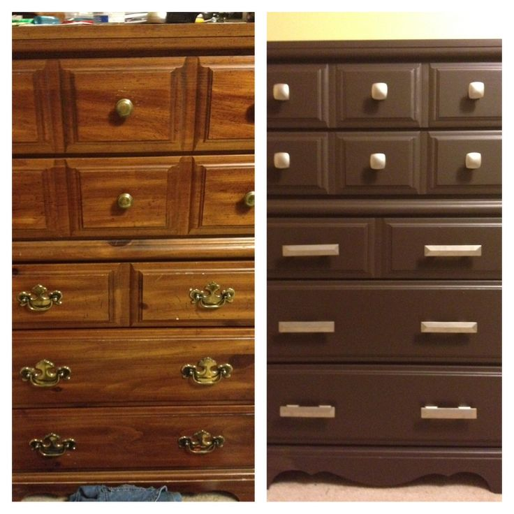 High Quality My Old 1980u0027s Bedroom Furniture Refurbished. I Wanted The New Espresso Color  But Didnu0027