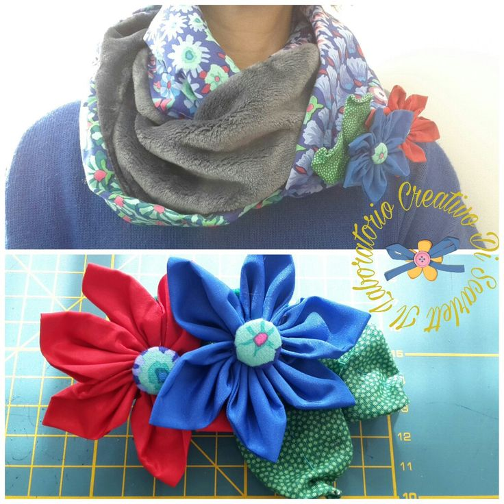 Neck warmer with flowers