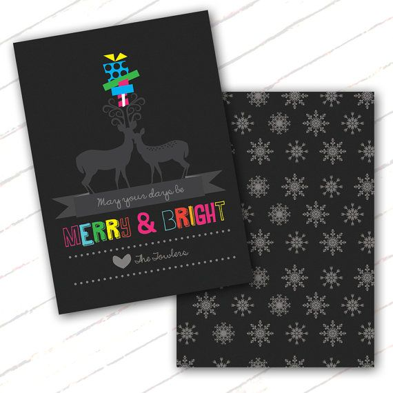 Gorgeous Personalised Christmas Card Printables