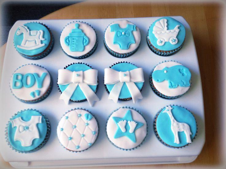 Cupcakes baby boy jongen cake cupcakes pinterest jongens kindje en cupcake for Deco slaapkamer jongen jaar