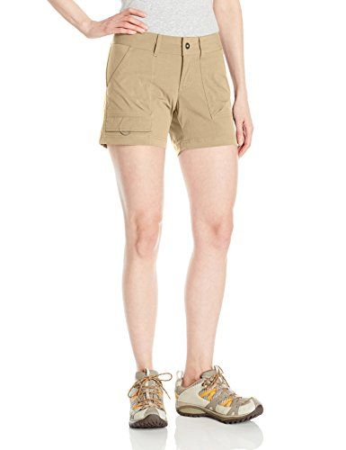 Columbia Women's Silver Ridge Stretch Shorts, British Tan, Size 8. For product & price info go to:  https://all4hiking.com/products/columbia-womens-silver-ridge-stretch-shorts-british-tan-size-8/