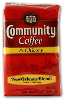 Community Coffee-the best coffee to use to make cafe au lait.