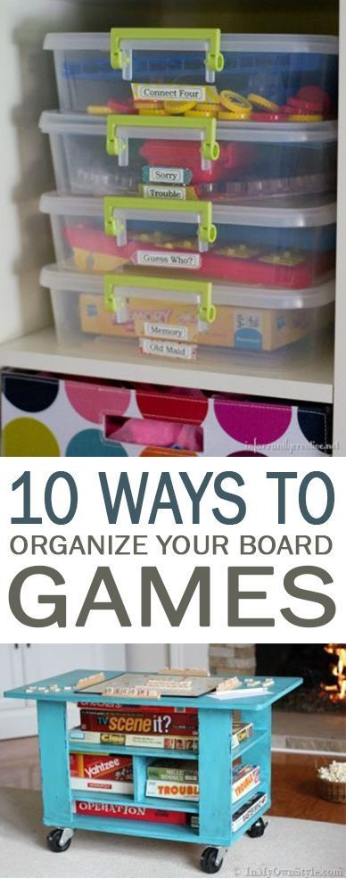 10 Ways to Organize Your Board Games - 101 Days of Organization