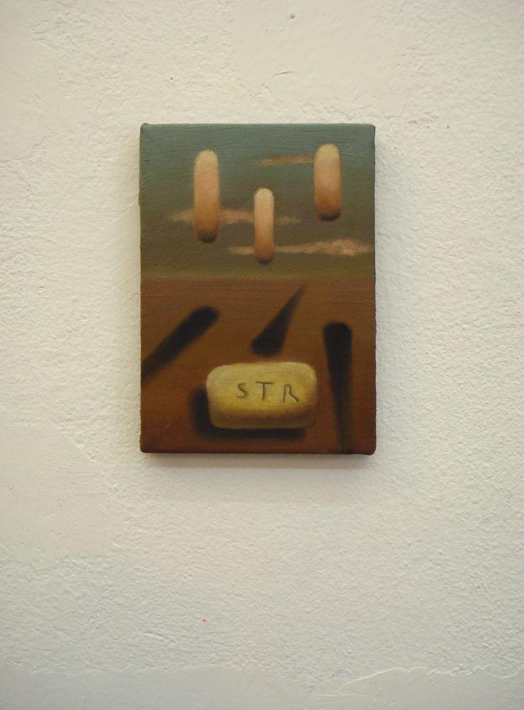 Juan Reos - STR - Óleo sobre tela - 13x18cm - 2013