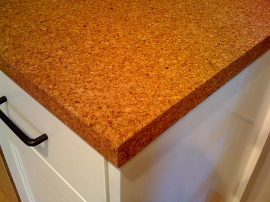 Cork countertop = eco and kid friendly kitchen