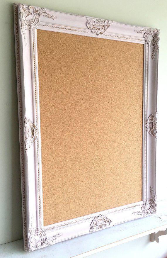 Pink Framed Bulletin Board 26 X 36 Cork Board Corkboard Distressed