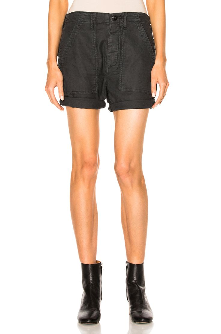 Image 1 of The Great Army Shorts in Washed Black
