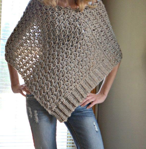 CROCHET PATTERN Delia Precious Poncho Crochet por CassJamesDesigns