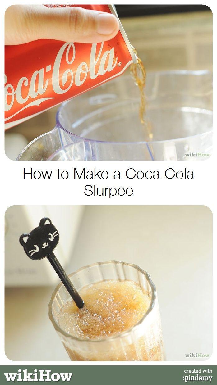 how to make a coca cola slurpee wikihow tips tricks pinterest how to make slurpee and. Black Bedroom Furniture Sets. Home Design Ideas