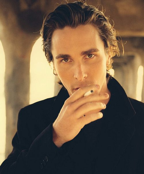 Christian Bale, stop making smoking look sexy. Damn your stupid handsome face.