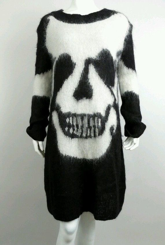 Black and White Skull Dress S by MillennialClub on Etsy, $275.00